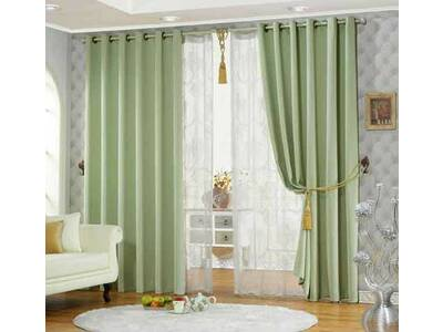 Lime Green Eyelet Blockout Decorative Curtain Size 180x221cm Warehouse Clearance Save Big