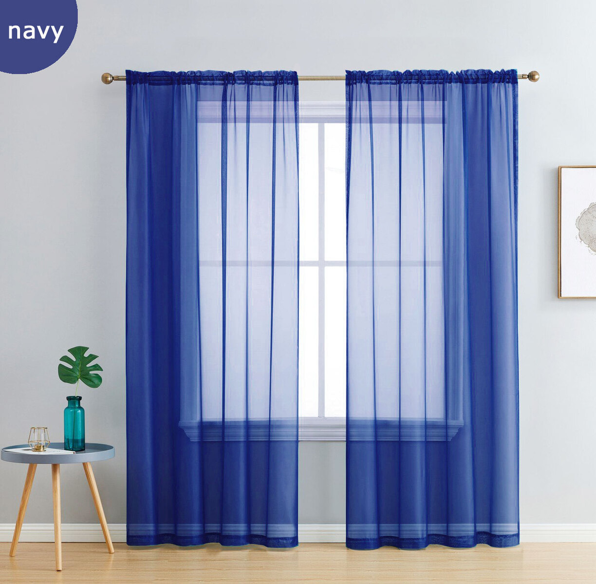 Luxton Rod Pocket Voile Curtain Single Sheer Curtain Panel Manchester Direct