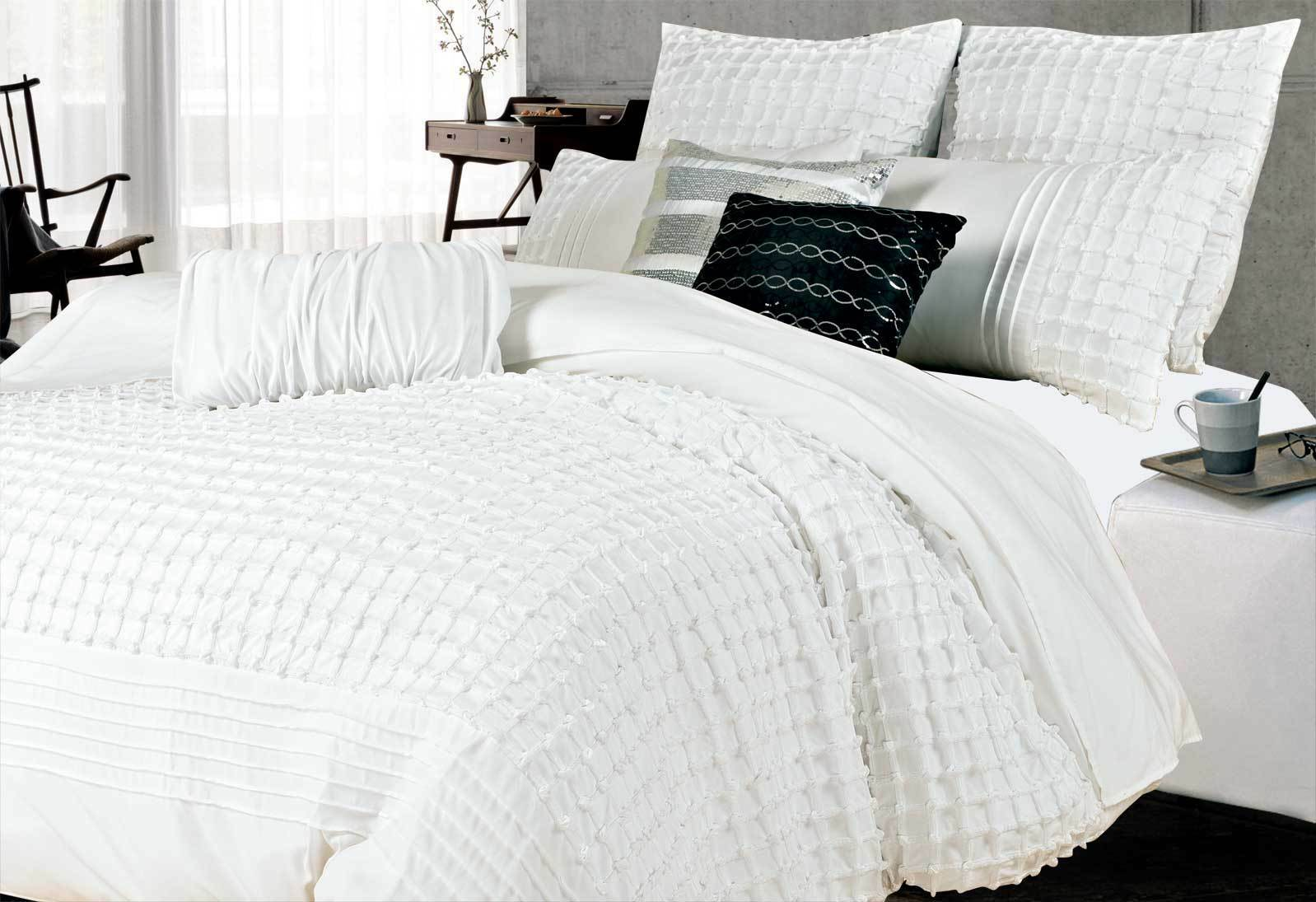 Cossette White Quilt Cover Set By Luxton
