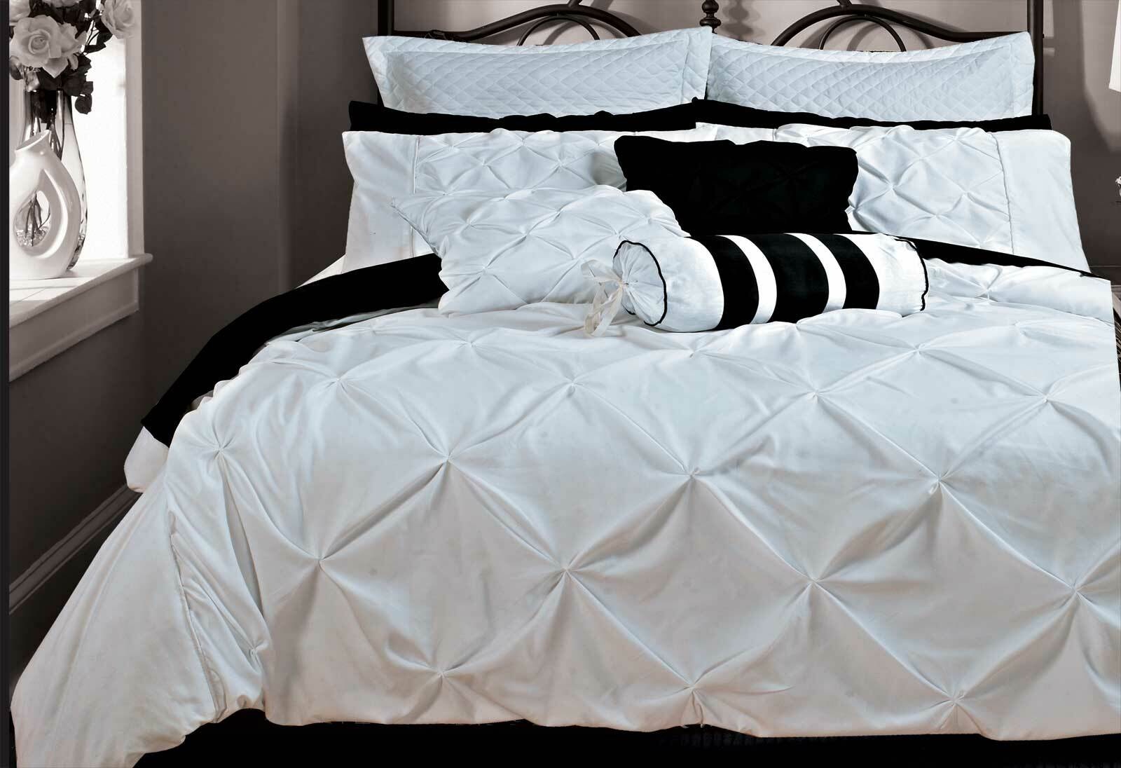 Fantine White Quilt Cover Set Queen King Super King