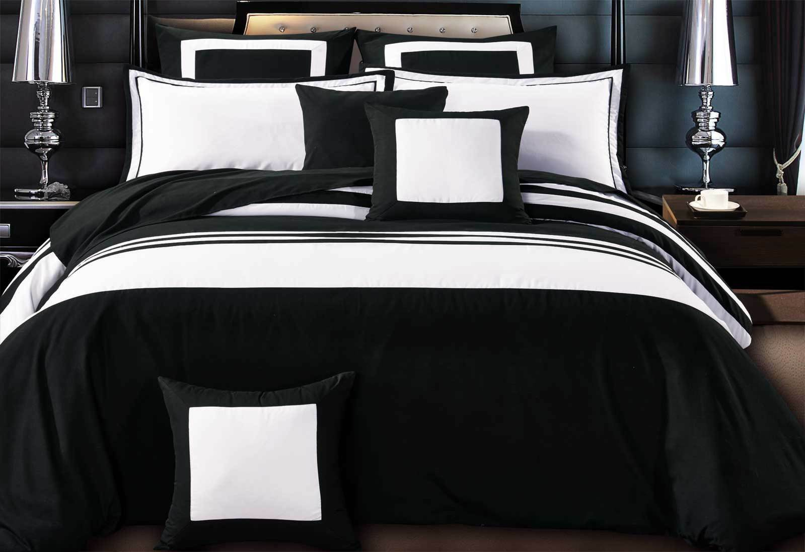 Luxton Rossier Striped Black Amp White Duvet Quilt Cover