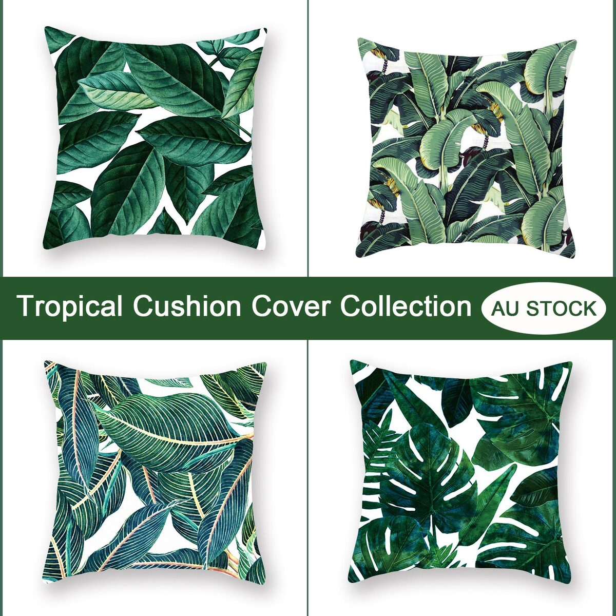 20x20cm Tropical Plant Palm Leaves Cushion Cover Collection