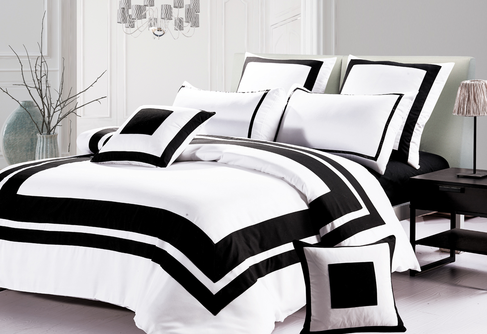 ideas comforter size chevron duvet black white bedroom for stunning queen decoration and