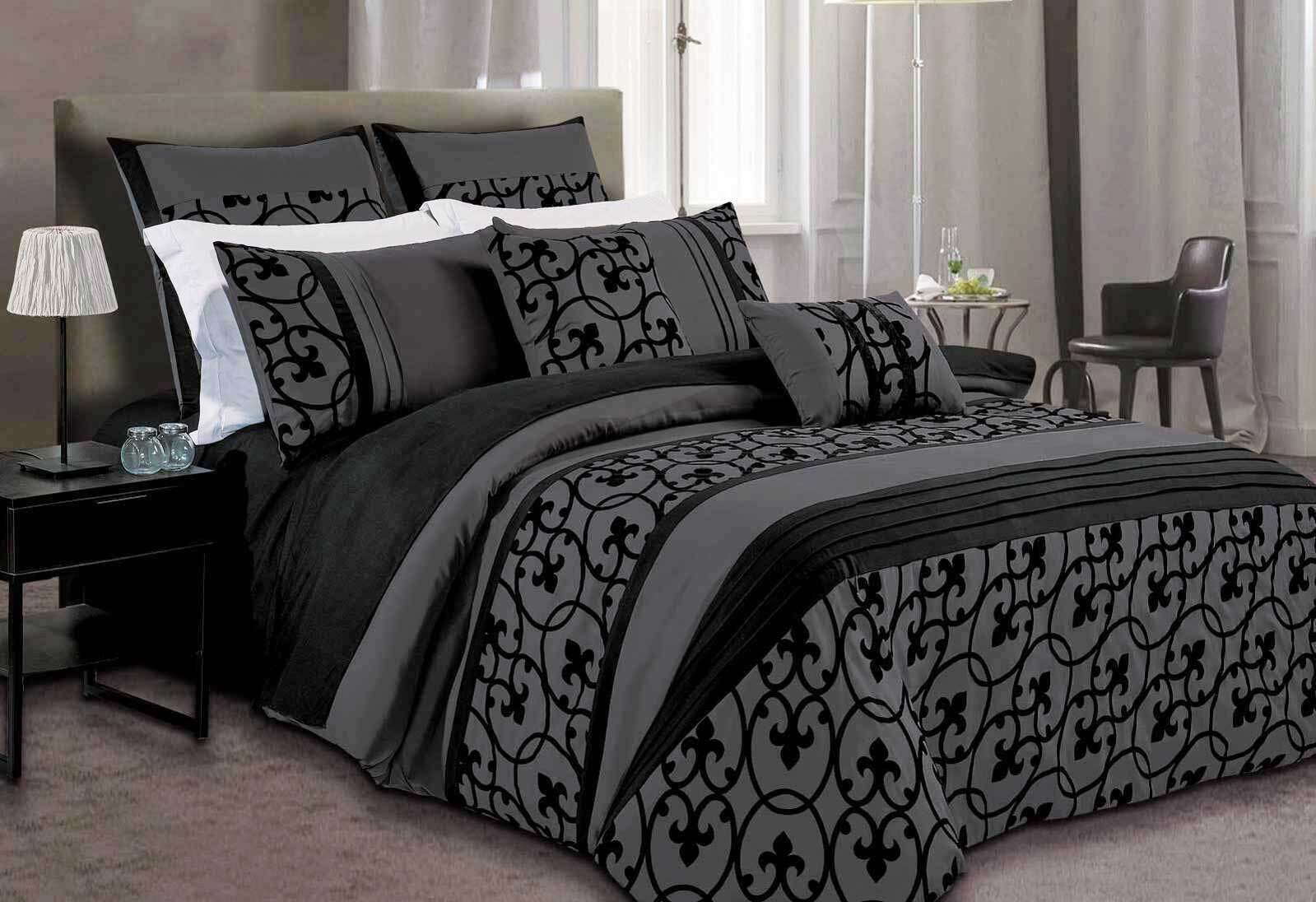Lowest Price Dursley Black Quilt Cover Set Doona Cover Set