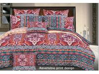 SALE~ 3pc QUEEN / KING size vintage RED duvet cover Quilt Cover Doona cover set