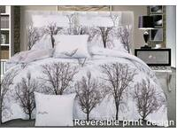 Reversible design 3pc QUEEN / KING size Tree Duvet cover Quilt Cover set