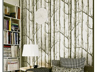 Modern Rustic Forest Birch Tree wallpaper
