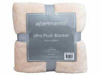 Single Size Apartmento Ultra-Soft Blanket [color: Blush]