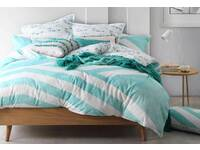 Queen Size Calippo Teal Quilt Cover Set (Last One)