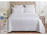 Madrid 400TC Cotton Quilted Coverlet Set Machine Washable