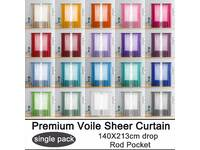 Rod Pocket Voile Curtain / Sheer Curtain (Single Panel Pack)