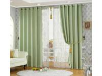 Lime Green Eyelet Ring Top Blackout / Blockout Curtain (size: 120x221cm)