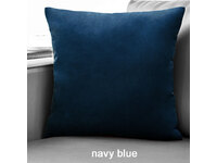 Velvet European Pillowcase 65x65cm - Navy