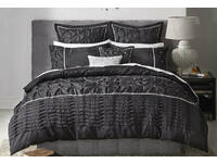 Queen Size Francesca Black Quilt Cover Set