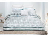 Single Size Gemma Embossed Quilt Cover Set