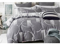 Bromley Grey Quilt Cover Set 100% Cotton