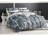 Last Stock - King Size 100% Cotton Hailey Quilt Cover Set