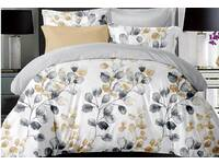 Idina Leaf Pattens Quilt Cover Set
