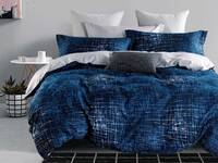 Queen Size Luxton Milton Navy Quilt Cover Set