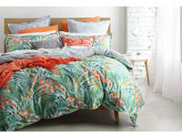 Single Size Norfolk Teal Quilt Cover Set