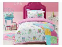 Single Size Jiggle Giggle girls room bedding  'Owl Song' Printed Quilt Cover Set