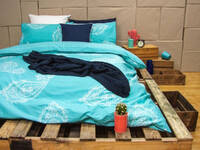 ARDOR Paize Turquoise Quilt Cover Set in Queen / King Size