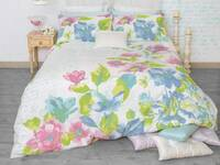 Single Size RETRO HOME Fiore Quilt Cover Set