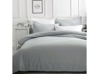 Queen Size Pure Soft Quilt Cover Set (Pewter Color)