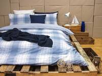 Queen Size ARDOR Wade QUILT COVER SET (Blue)