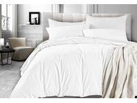 King Size Vintage Washed Quilt Cover Set (White Color)