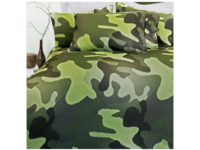 Single Size Camouflage Green Quilt Cover Set (Last One)