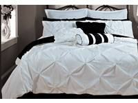 Fantine White Quilt Cover Set