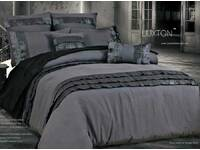 Autry Stone Grey Quilt Cover Set King / Queen Size