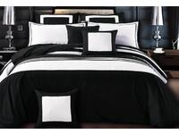 King Size Rossier Striped Quilt Cover Set by Luxton