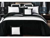 Queen Size Rossier Striped Quilt Cover Set by Luxton
