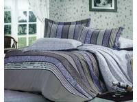 Filli purple striped floral print Quilt Cover Set QUEEN size