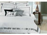 Super King white Sequins Quilt Cover / Duvet Cover Set