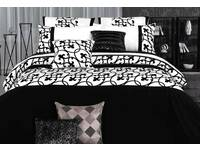 Lyde Black and White King / Queen size Quilt Cover / Duvet Cover Set