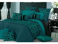 Lyde Teal  Quilt Cover Set in Queen or King  Size
