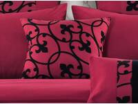 Luxton Afton Red and Black Quilt Cover Set - 1 Square cushion cover
