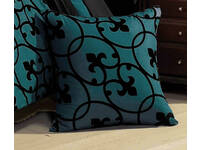 Lyde Black Teal Quilt Cover Set by Luxton Square cushion cover