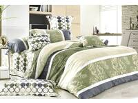 Queen size Reversible cotton Cascina Quilt Cover Set