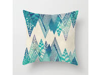 Aqua Blue Turquoise Square Cushion Cover - Design #5