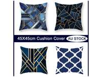 Modern 45x45cm Navy Blue Cushion Cover Collection