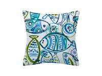 45x45cm Flannel Aqua Blue Turquoise Green Cushion Cover Collection - 4