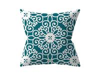 Modern 45x45cm Teal Square Cushion Cover Collection - 4