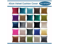Velvet Square Cushion Cover Home Collection 45x45cm