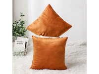 Velvet Square Cushion Cover 45x45cm - Burnt Orange