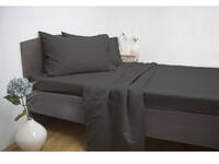 Queen Size Ardor 1900TC Cotton Rich Sheet Set [color: Charcoal]