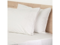 King Size White Lorimer 300TC Stone Washed Cotton Sheet set